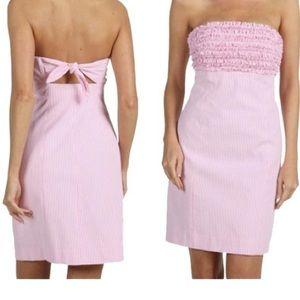 Lilly Pulitzer Franco Pink Seersucker Sz 2 Dress